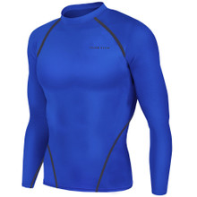 New Mens Compression Top Long Sleeve Skins Blue Take 5