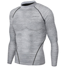 New Mens Compression Thermal Top Long Sleeve Skins Melange Take 5