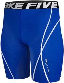 Mens Compression Shorts Base Layer Tights Royal Blue Take 5