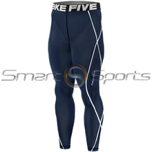 Kids Compression Pants Base Layer Tights Navy Take 5