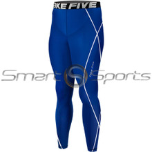 Copy of Kids Compression Pants Base Layer Tights Blue Take 5