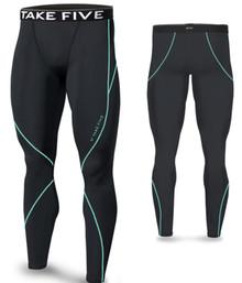 New Mens Compression Pants Base Layer Tights Navy Take 5