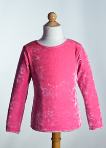 Hot Pink Crew Neck Top Long Sleeve