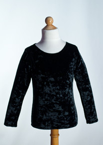 Black Crew Neck Top Long Sleeve