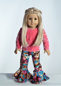 Pink/Brown Gardi Doll Outfit  Matching Girl Outfit available