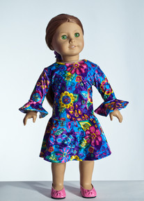 Purple Gardi Doll Dress     Matching Girl Dress available