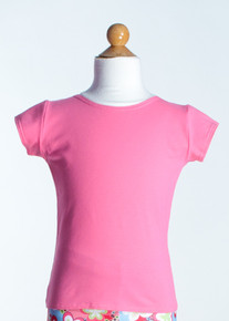 Hot Pink Crew Neck Top      Short Sleeve