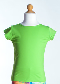 Green Crew Neck Top      Short Sleeve