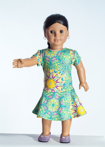 Lime Dali Doll Dress     Matching Girl Dress available