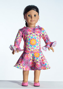 Pink Kali Doll Dress     Matching Girl Dress available