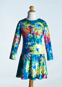 Multi Tie Dye Drop Waist Dress     Matching Doll Dress available