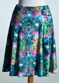 Green Zodiac Flare Skirt