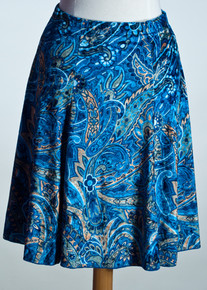 Royal Paisley Flare Skirt