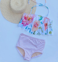 Watercolor Floral Swimsuit