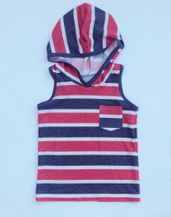 USA Stripe Hooded Tank