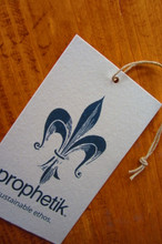 Recycled medium weight matte finished cardstock hangtag
