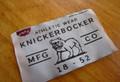 Single shuttle woven vintage label