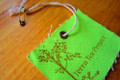 Flood coat printed cotton hangtag