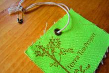 Flood coat printed cotton hangtag