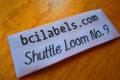 Comfort folds woven clothing label