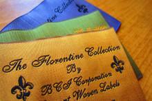 Super fine yarn woven clothing label