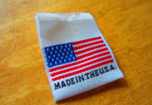 woven made in USA clothing label