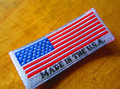 Made in USA Woven Damask End Fold label - 500pcs.