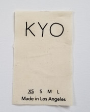 French Cotton Laundry Label. Single sided print only, no folds.