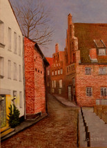 "Inslee, George - ""Old Lubeck"" unframed"