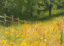Field of Gold - 10x8 giclee' on canvas by George Inslee, unframed