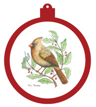 Cardinal Female Ornament