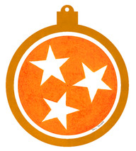 Tennessee Tri-Stars Orange Ornament