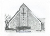 Pennington United Methodist Church 7x5 print