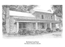 PC - Buchanan Log Home 7x5 print