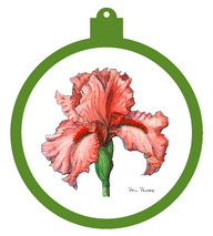 Iris - Rosey Ornament