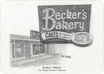Becker's Bakery 7x5 print
