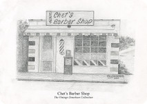 Chet's Barber Shop 7x5 print