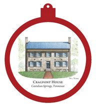 Cragfont House - Castalian Springs Ornament