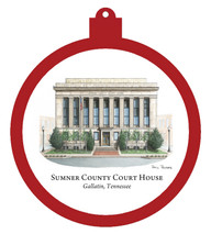 Sumner County Courthouse Ornament