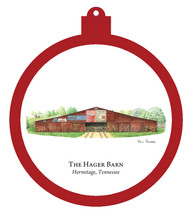Hager Barn - Hermitage, Tennessee Ornament