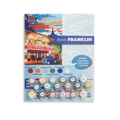 Historic Franklin Paint by Numbers Kit
