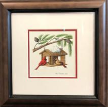 Cardinal Bird feeder original 11x11 - SOLD