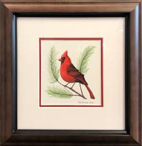 Male cardinal original 11x12