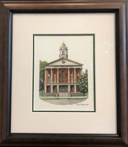 Bedford county courthouse Original Framed 13x15 - NEW