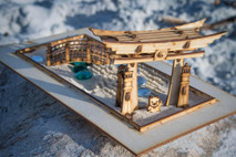 The Zen Garden - Japanese Meditation Kit. Playset of 6 pieces, plus the sandbox.