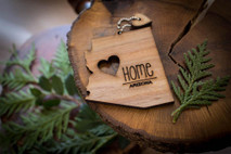 z State Key Chains, Name & Gift Tags - Arizona