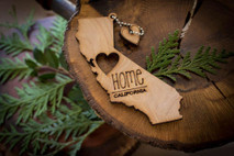 z State Key Chains, Name & Gift Tags - California