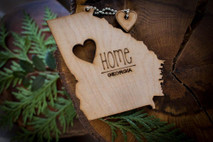 z State Key Chains, Name & Gift Tags - Georgia