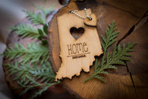 z State Key Chains, Name & Gift Tags - Indiana