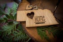 z State Key Chains, Name & Gift Tags - Nebraska